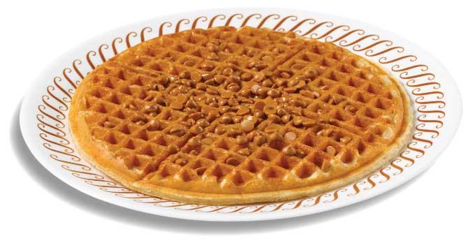 Peanut butter chip waffle