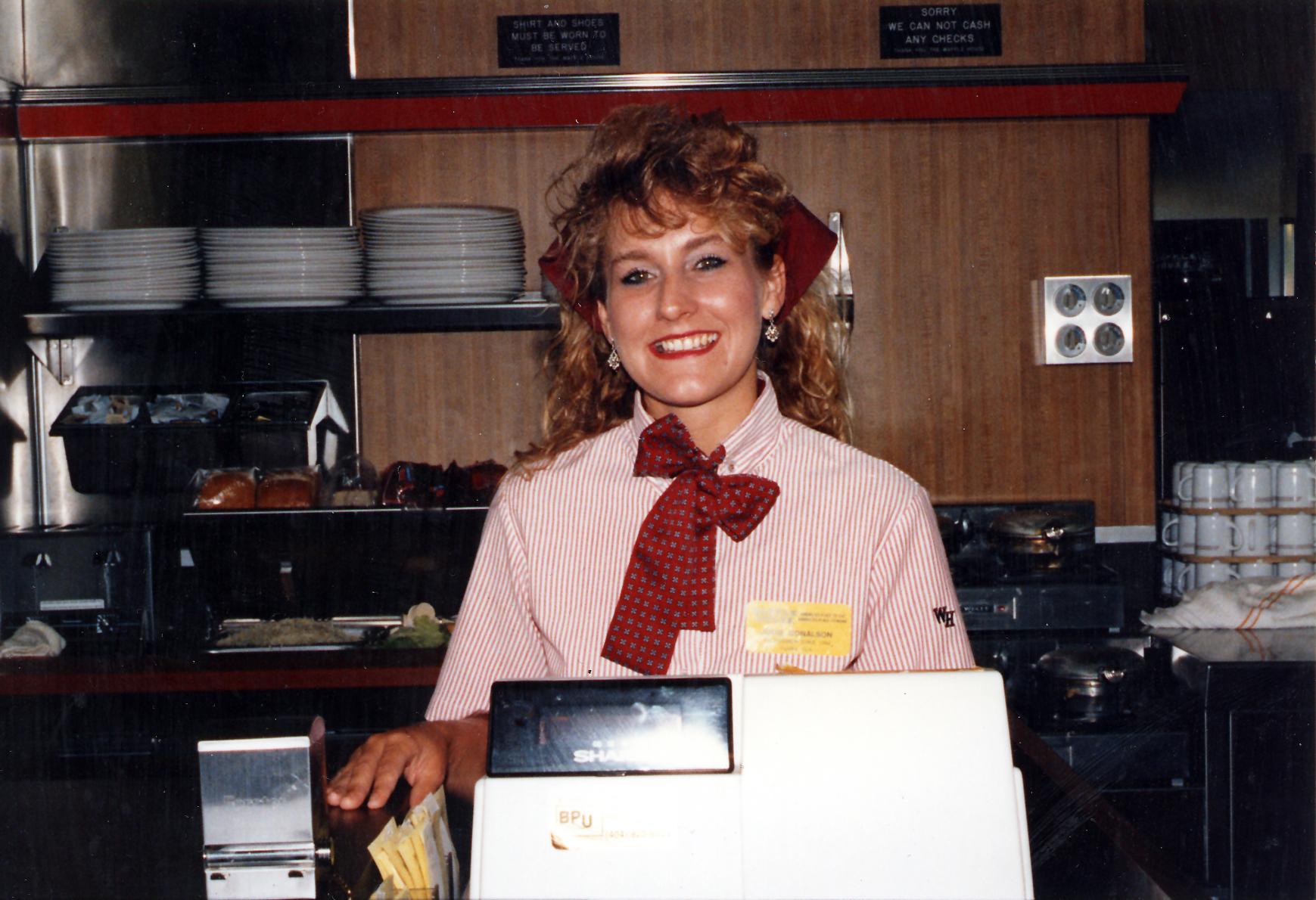 Vintage photo of Waffle House waitress