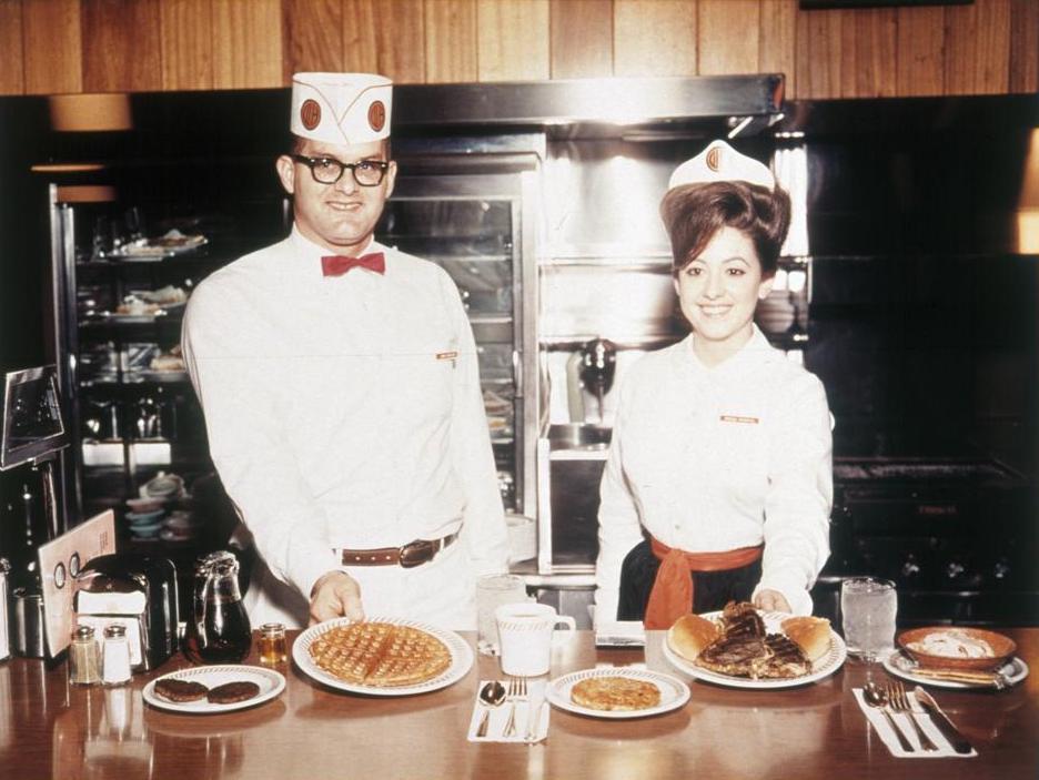 Classic photo of Waffle House employees