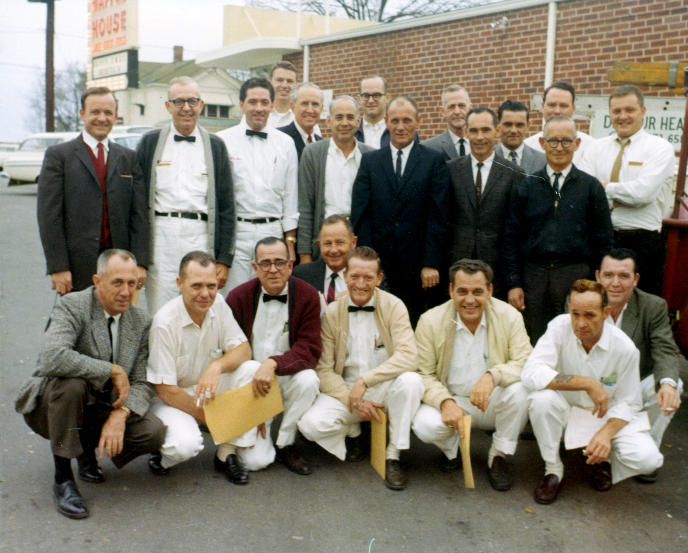 vintage photo of early Waffle House employee line-up