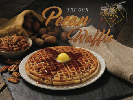 TRY OUR PECAN WAFFLE