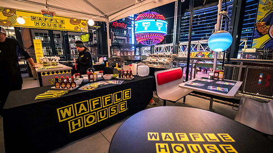 Interior of modern Waffle House restaurant
