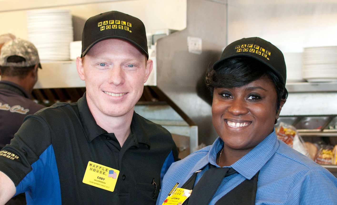 Happy Waffle House Employees