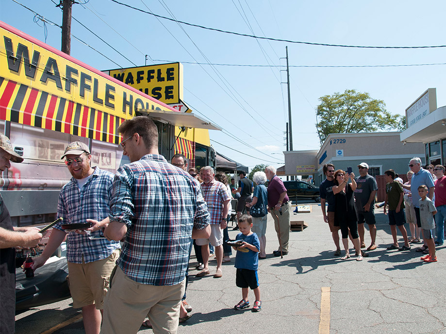 waffle house food truck at an event
