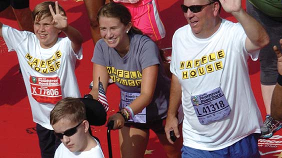 Family at a race event